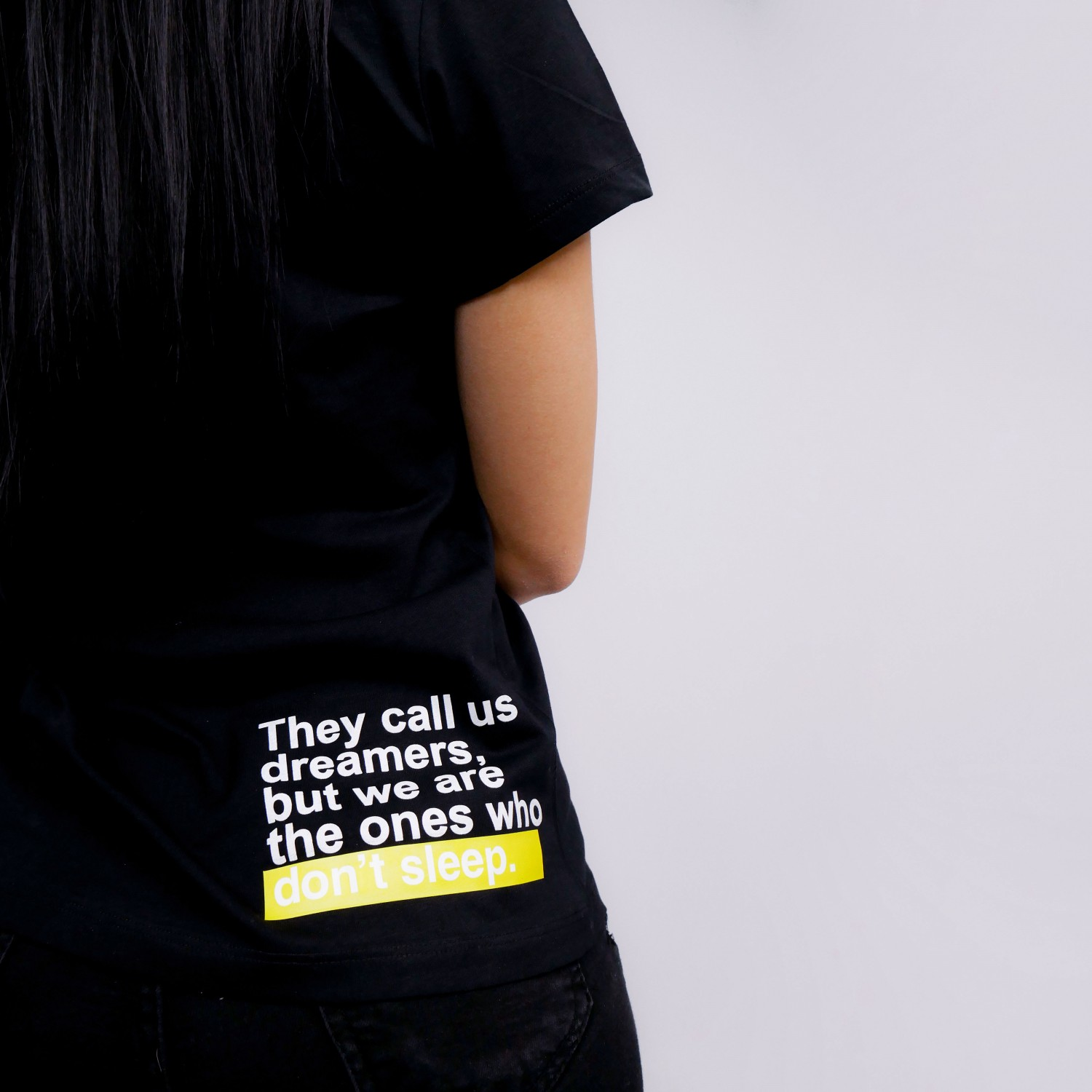 """They Call Us Dreamers"" T-Shirt In Black"